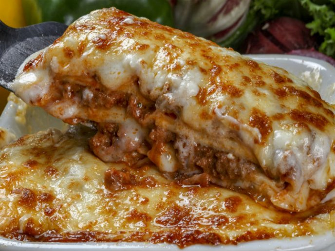 Deliciosa Lasaña De Carne Y Pasta De Coditos Súper Rendidora