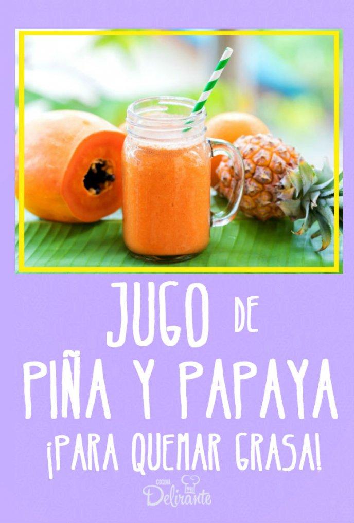 batido de papaya y piña para bajar de peso