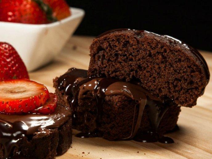 pastel de chocolate sin gluten a baño maria