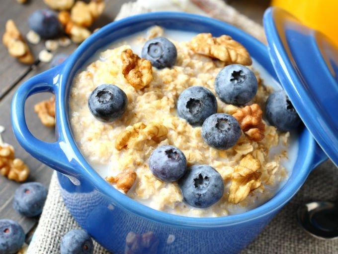 Avena en el desayuno para bajar de peso