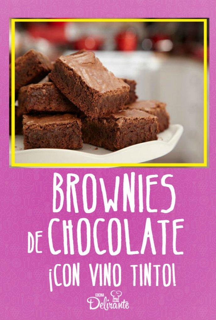 receta de brownies con vino tinto
