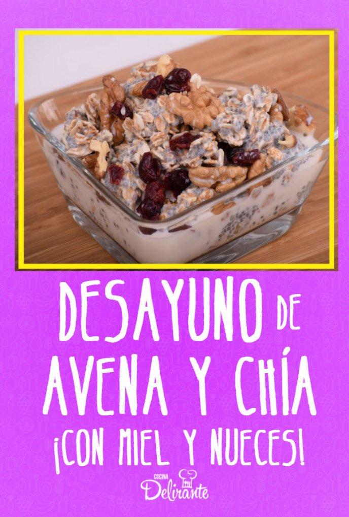 receta de bowl de avena chia