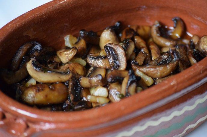 receta de carne de res con salsa de champiñones