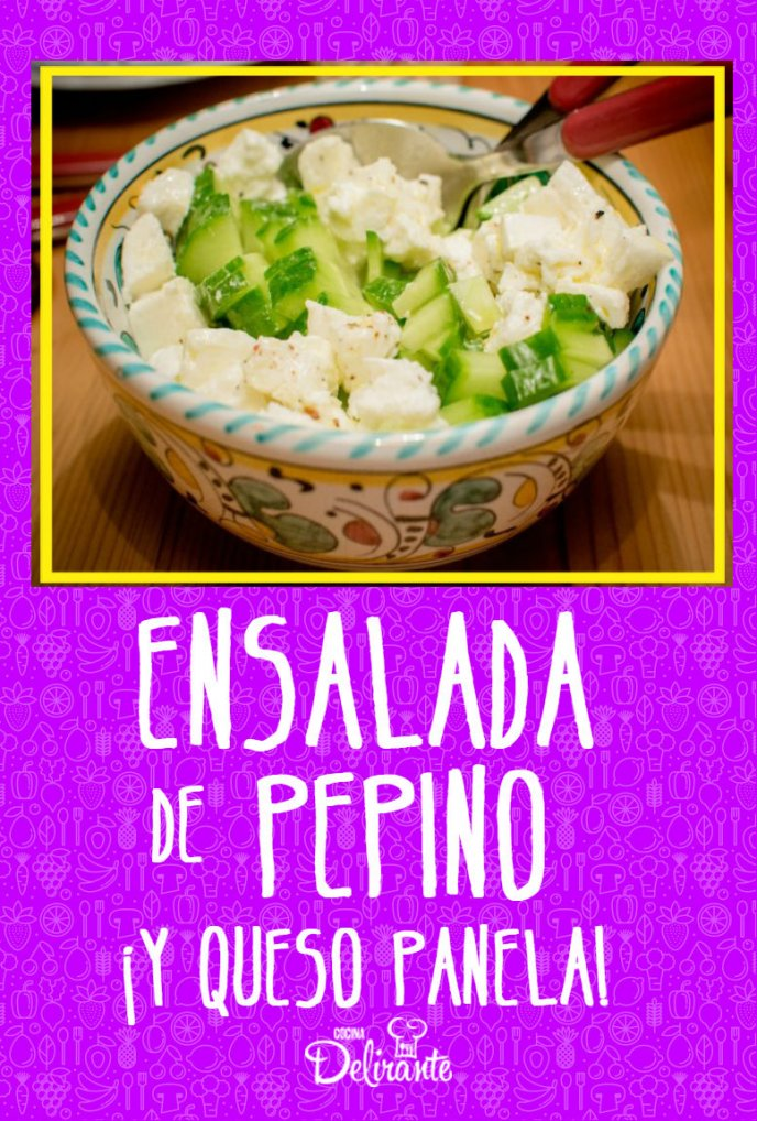 receta de ensalada pepino con queso blanco