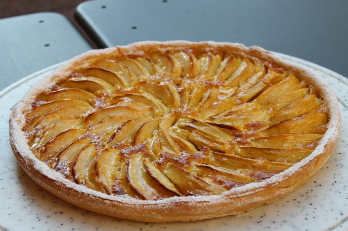 receta de primera tarta de manzana económica