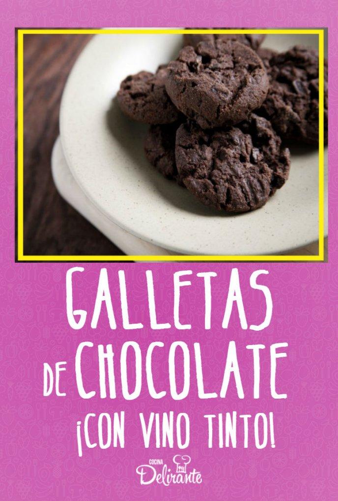 recetas de galletas de chocolate con vino tinto en horno deliciosas