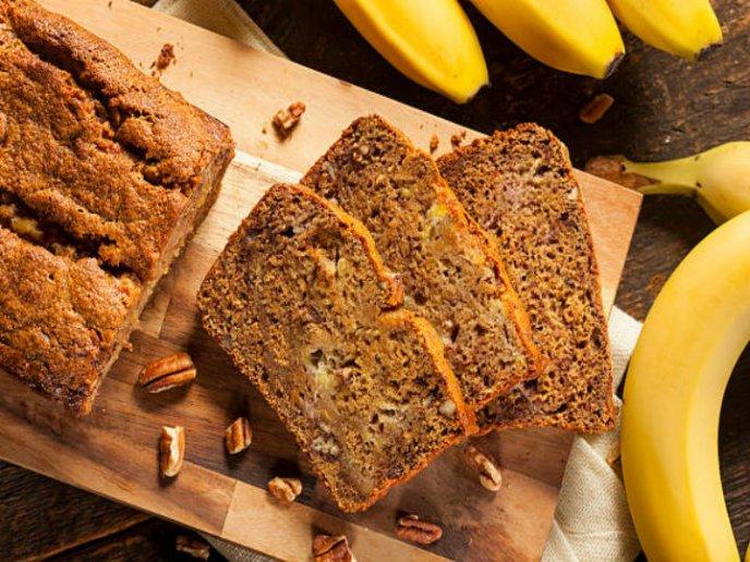 receta pan de platano y avena con datiles
