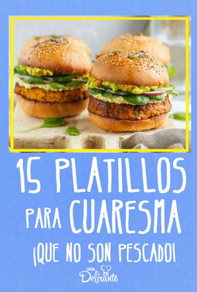 recetas para cuaresma que no son pescado hamburguesa