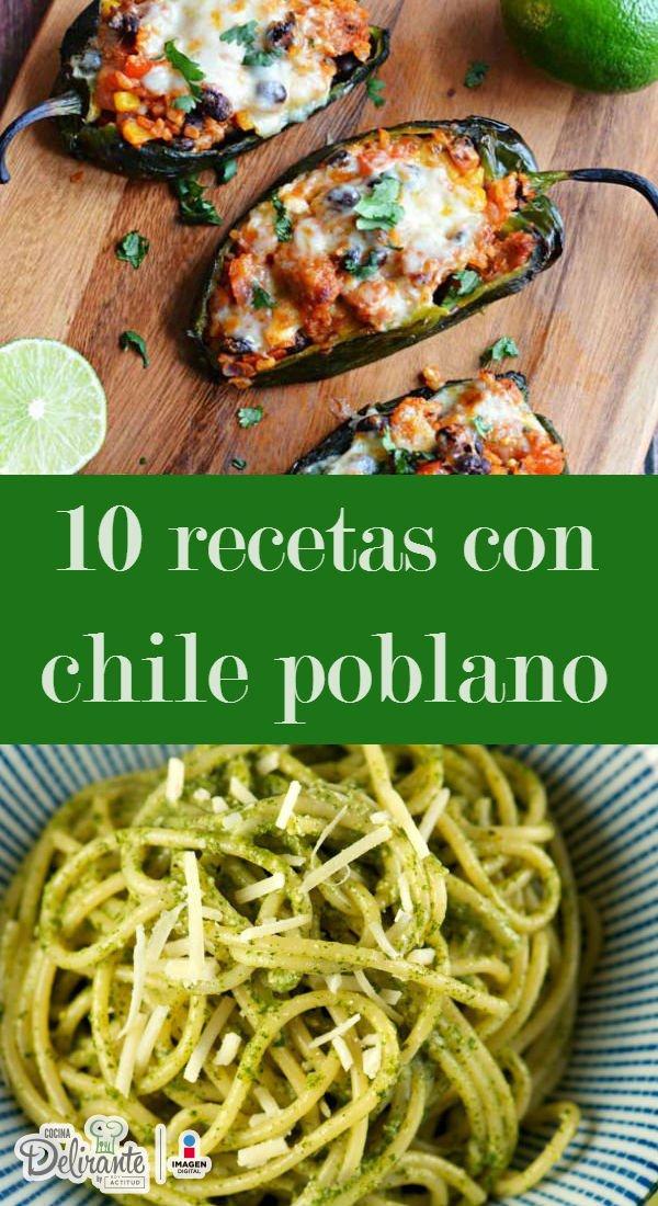 Recetas Con Chile Poblano Cocinadelirante