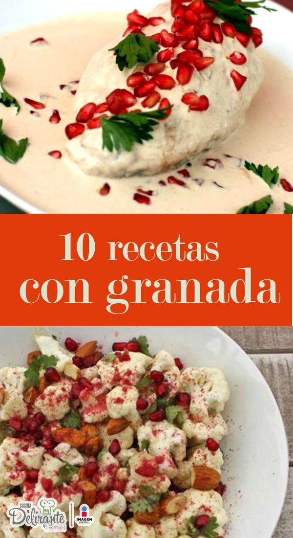 Granada Fruta Como Se Come Cocinadelirante