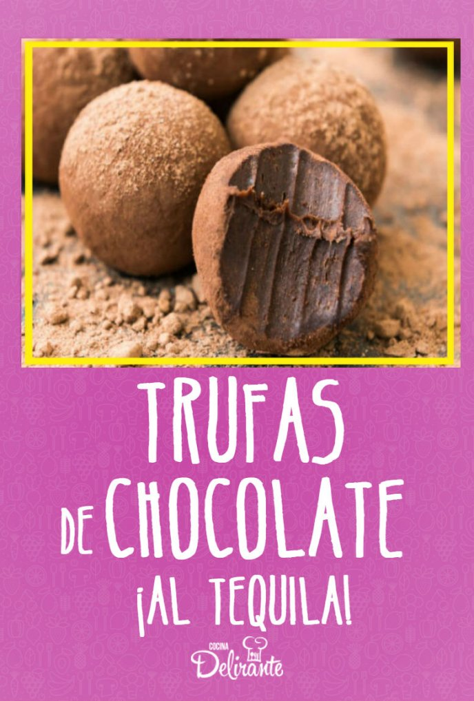 trufas de chocolate con tequila