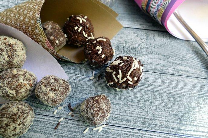 trufas de nuez con chocolate faciles